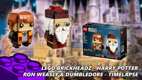 Lego #41621 - Brickheadz Harry Potter - Ron Weasly & Dumbledore - Timelapse