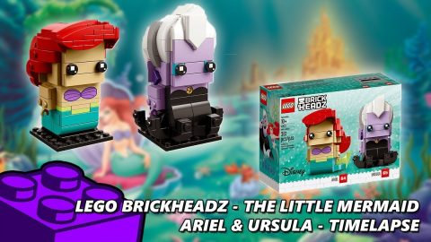 Lego #41623 - Brickheadz The Little Mermaid - Ariel & Ursual - Timelapse