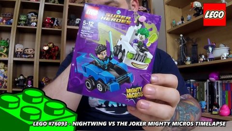 Lego #76093 - Nightwing vs The Joker - Mighty Micros - Timelapse