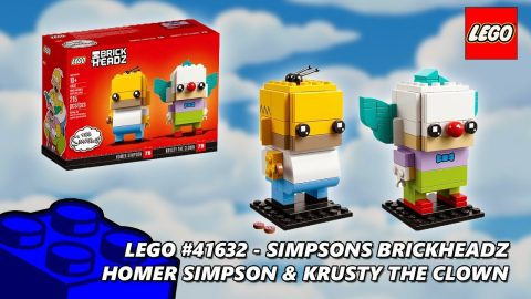 Lego #41632 Simpsons Brickheadz Homer Simpson & Krusty The Clown Review