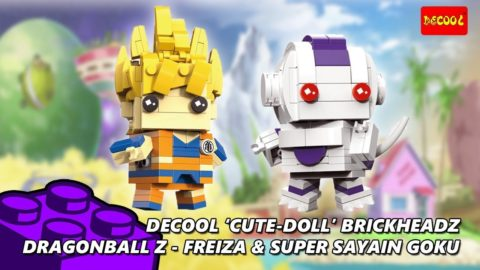 Dragonball Z Brickheadz Freiza & Super Sayain Goku Review (Decool Cute Doll)