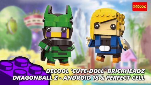 Dragonball Z Brickheadz Android18 & Perfect Cell Timelapse (Decool Cute Doll)