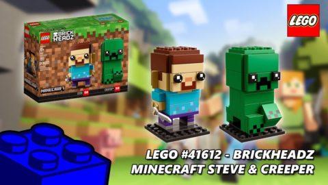 Lego #41612 Minecraft Steve & Creeper Brickheadz Timelapse