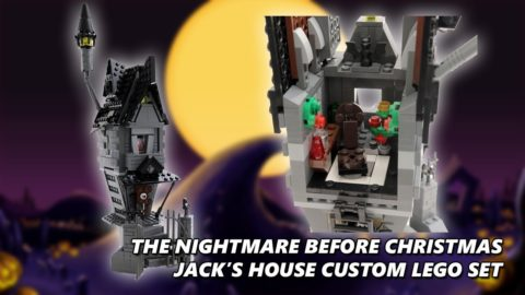 The Nightmare Before Christmas Jack's House - Custom Lego Set Timelapse