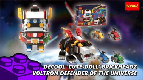 Voltron Brickheadz Defender Of The Universe Timelapse (Decool Cute Doll)