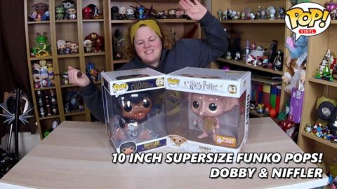 Giant 10 Inch Harry Potter Funko Pops - Dobby & Niffler