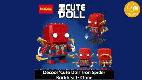 Decool CuteDoll Spider-man \ Iron Spider Timelapse (Lego Brickheadz Clone)