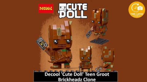 Decool CuteDoll Teen Groot Timelapse (Lego Brickheadz Clone)