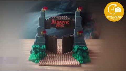 Nanoblock - Jurassic Park Gate Timelapse Build - Universal Studios Japan Exclusive