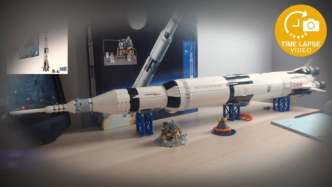 Lego Ideas Saturn V (Set #21309) Timelapse Build