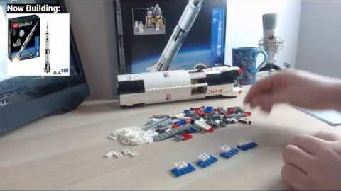 Lego Saturn V - More Chilled Building Stream #2