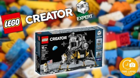 Lego #10266 NASA Apollo 11 Lunar Lander Timelapse (Creator Expert)