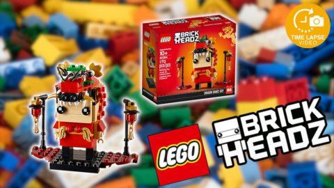 Lego #40354 Dragon Dance Guy Timelapse (Brickheadz)