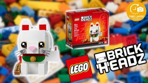 Lego #40436 Lucky Cat Timelapse (Brickheadz)