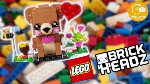 Lego #40379 Valentines Bear Timelapse (Brickheadz)