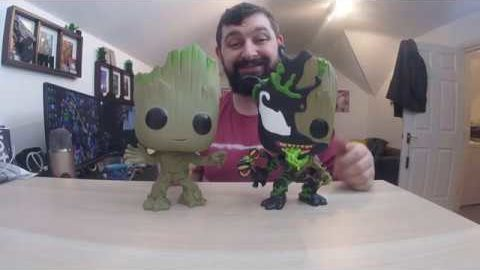"Venomised Groot 10"" Supersized Funko Pop Unboxing"