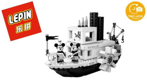 Lepin/Nuogao Steamboat Willie Timelapse (Lego #21317)